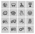 Vector black auto icons set Stock Photography