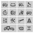 Vector black auto icons set Stock Images