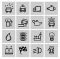 Vector black auto icons set Royalty Free Stock Image