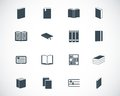 Vector black book icons set Stock Image