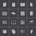 Vector black book icons set this is file of eps format Royalty Free Stock Images
