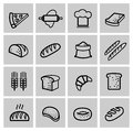 Vector black bread icon set this is file of eps format Royalty Free Stock Image