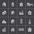 Vector black building icons set this is file of eps format Royalty Free Stock Photography