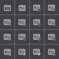 Vector black calendar icons set this is file of eps format Stock Images