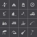 Vector black camping icons set this is file of eps format Stock Photography