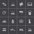 Vector black car wash icons set this is file of eps format Stock Images