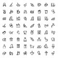 Vector black cleaning icons set this is file of eps format Stock Photography