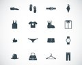 Vector black clothes icons set Royalty Free Stock Photo