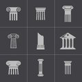 Vector black column icons set this is file of eps format Royalty Free Stock Image