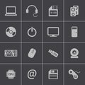 Vector black computer icons set this is file of eps format Royalty Free Stock Photography