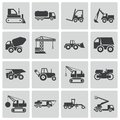 Vector black construction transport icons set this is file of eps format Stock Image