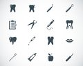 Vector black dental icons set Stock Photo