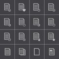 Vector black document icons set this is file of eps format Stock Photo