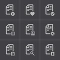 Vector black documents icons set this is file of eps format Stock Photos