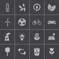 Vector black eco icons set this is file of eps format Stock Photo