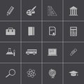 Vector black education icons set this is file of eps format Stock Photos