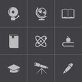 Vector black education icons set this is file of eps format Royalty Free Stock Photography