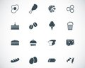 Vector black food icons set Royalty Free Stock Images