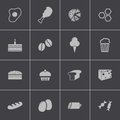 Vector black food icons set this is file of eps format Stock Photography