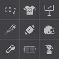 Vector black football icons set this is file of eps format Stock Photography