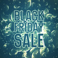 Vector Black Friday Sale abstract background of shining bubbles. Vector illustration on turquoise background. A