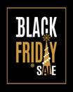 Vector Black Friday sale inscription Royalty Free Stock Photo