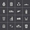 Vector black garbage icons set this is file of eps format Stock Photo