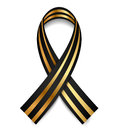 Vector black gold st george ribbon Stock Photography