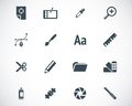 Vector black graphic design icons set Royalty Free Stock Photos