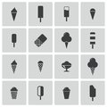 Vector black ice cream icons set this is file of eps format Stock Photos
