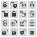 Vector black lock icons set Royalty Free Stock Image