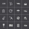 Vector black logistic icons set this is file of eps format Stock Images