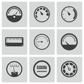 Vector black meter icons set this is file of eps format Stock Photos