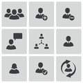 Vector black office people icons set Royalty Free Stock Photo