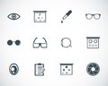 Vector black optometry icons set Royalty Free Stock Photography