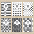 Vector black pattern set of Vintage background banner retro Royalty Free Stock Photo