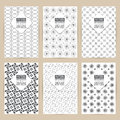 Vector black pattern set of Vintage background banner Royalty Free Stock Photo