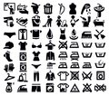 Vector black phone icons set on white Stock Photos