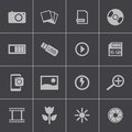 Vector black photo icons set this is file of eps format Stock Photography