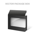 Vector Black Product Package Box, Transparent, White inside
