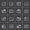 Vector black schoolbooks icon set Royalty Free Stock Photo