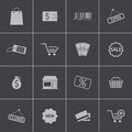 Vector black shop icons set this is file of eps format Royalty Free Stock Images