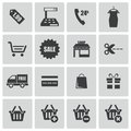 Vector black shopping icons set this is file of eps format Royalty Free Stock Images