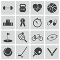Vector black sport icons set Stock Photo