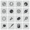Vector black sport icons set this is file of eps format Royalty Free Stock Photo