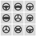 Vector black steering wheels icons set this is file of eps format Stock Photo