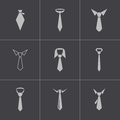Vector black tie icons set this is file of eps format Royalty Free Stock Photography