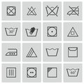Vector black washing icons