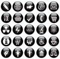 Vector black web icons set Stock Image
