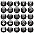Vector black web icons set Royalty Free Stock Photo